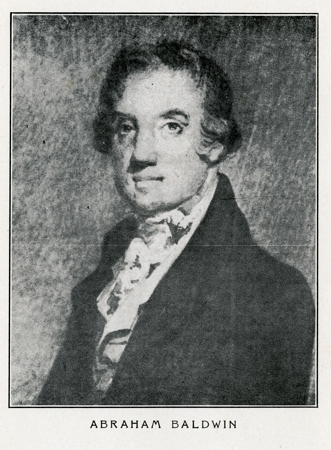 Abraham Baldwin Sketch. Georgia Historical Society Main Collection E302.6.B17 W5