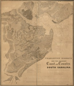 Charleston Harbour and the adjacent coast and country, South Carolina : surveyed at intervals in 1823, 1824, and 1825. Drawn by Hartman Bache, J.D. Graham, C.M. Eakin, W.M. Boyce, S. Wragg. Library of Congress Geography & Map Division.