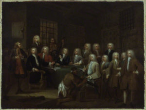 'The Gaols Committee of the House of Commons', by William Hogarth, NPG 926. © National Portrait Gallery, London.