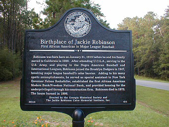 Markers_Grady_Birthplace of Jackie Robinson