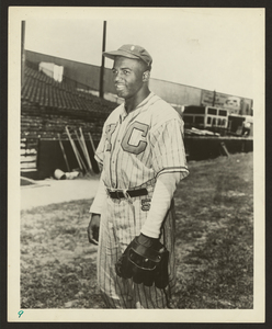 Jackie Robinson in Kansas City Monarchs uniform, 1945. Library of Congress Prints & Photographs Division, LC-DIG-ppmsc-00039.