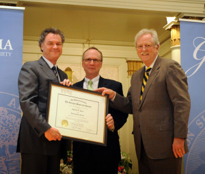 Distinguished Fellow Edward L. Ayers with GHS President W. Todd Groce and Board Chairman Robert S. Jepson