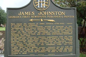 James Johnston Georgia's First Newspaper Publisher and Printer