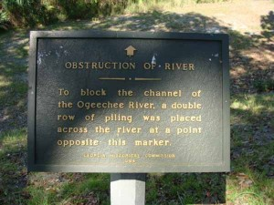 Obstruction of River