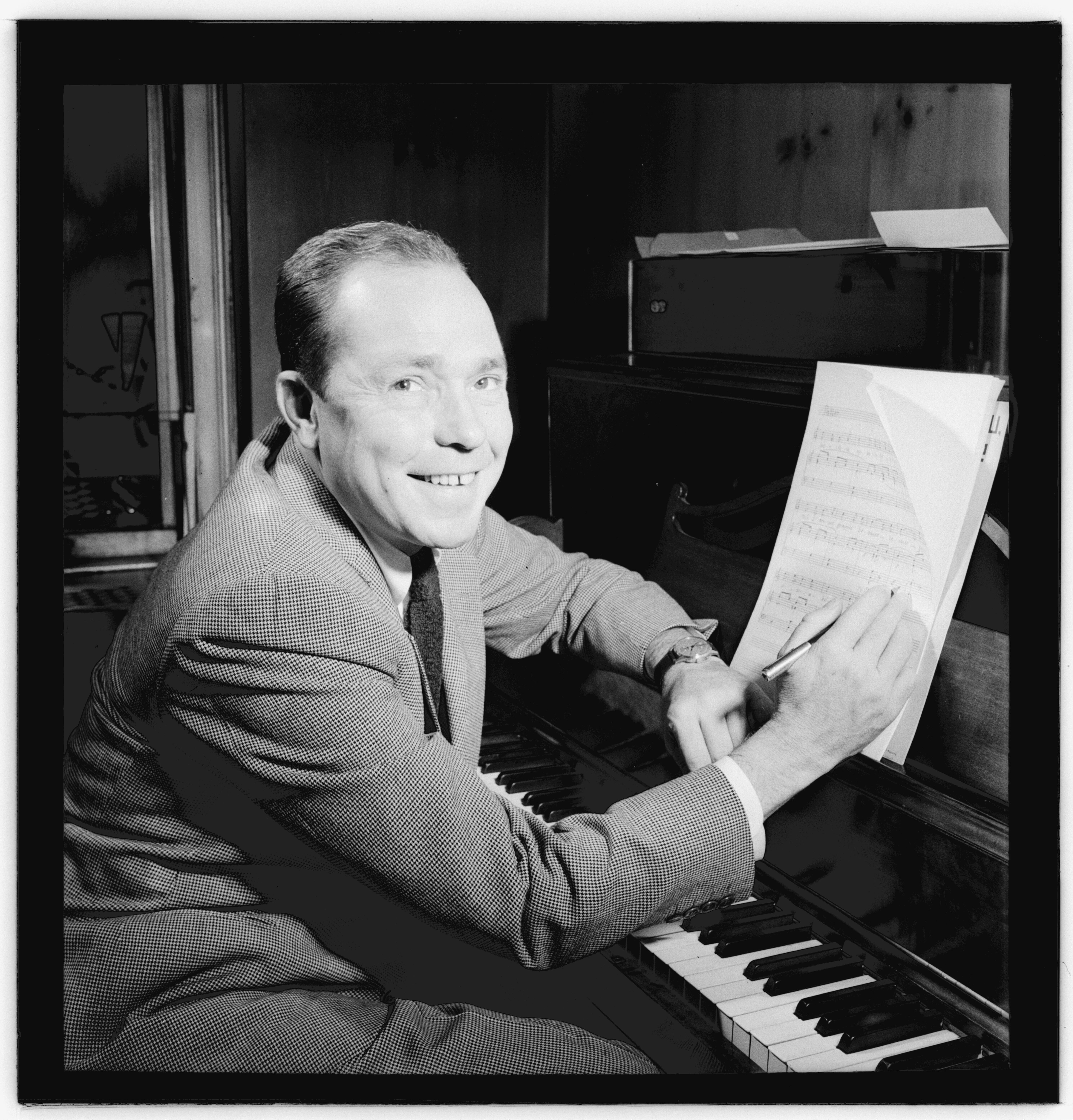 johnny mercer portrait piano songwriting