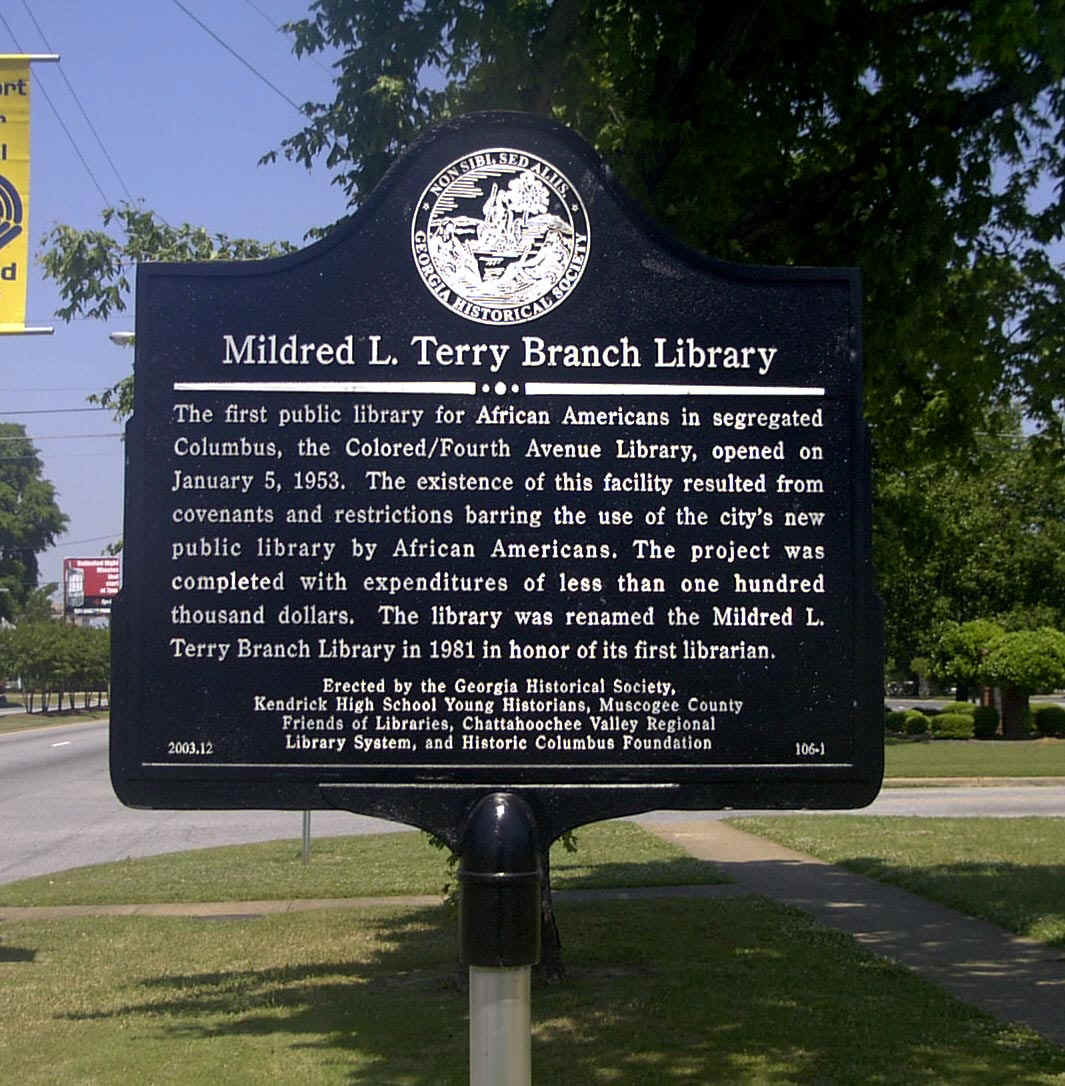 Mildred L. Terry Branch Library Marker