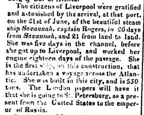 Savannah Daily Republican, August 28, 1819