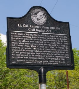 Lt. Col. Lemuel Penn and the Civil Rights Act Marker