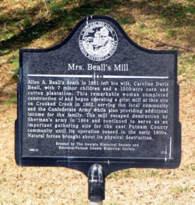 Mrs. Beall's Mill Marker