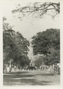 Wright Square, looking north on Bull Street, Savannah, Ga. Ca.1875, Foltz Photography Studio Collection, MS 1360.