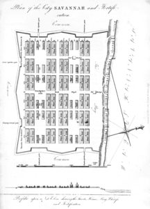 Plan of Savannah, 1757.