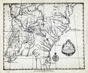 A map of the Indian Nations in the Southern Department 1766