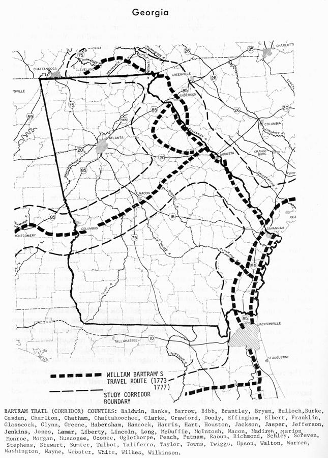 William Bartram Map