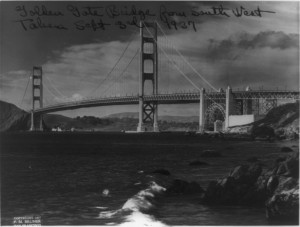 Golden Gate Bridge from southwest, 1937 Sept. 3rd. Library of Congress Prints & Photographs Division, LC-USZ62-99088.