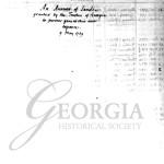 Earl of Egmont list of early settlers of Georgia, ca. 1743.