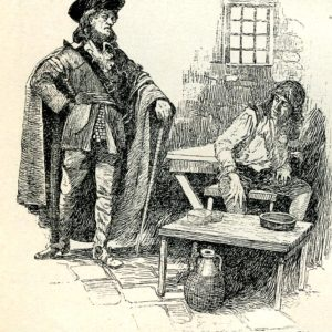 Oglethorpe Visiting Prisoners, engraving, in, First lessons in Georgia History by Lawton B. Evans. From the Georgia Historical Society Main Collection, F286.E925 1913.