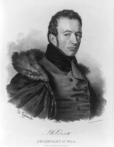J.R. Poinsett, Secretary of War. Library of Congress, Prints & Photographs Division, LC-USZ62-23834