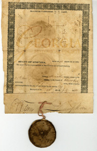 Elisha Strickland land grant, 1834
