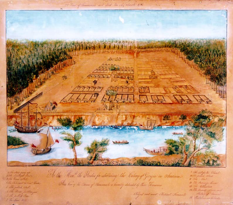 View of Savannah as it stood on 29th of March 1734, drawn by Peter Gordon