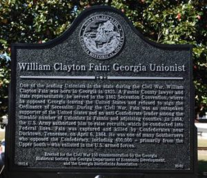 William Clayton Fain: Georgia Unionist