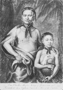Tomochichi and Toahahwi, 1739. From the Foltz Photography Studio Photographs, MS 1360.