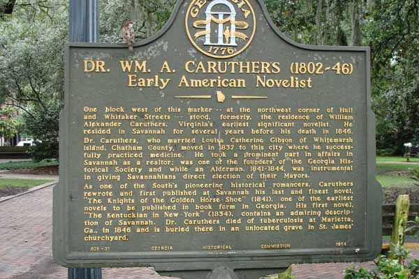 Marker Monday: Dr. Wm. A. Caruthers (1802-1846): Early American Novelist