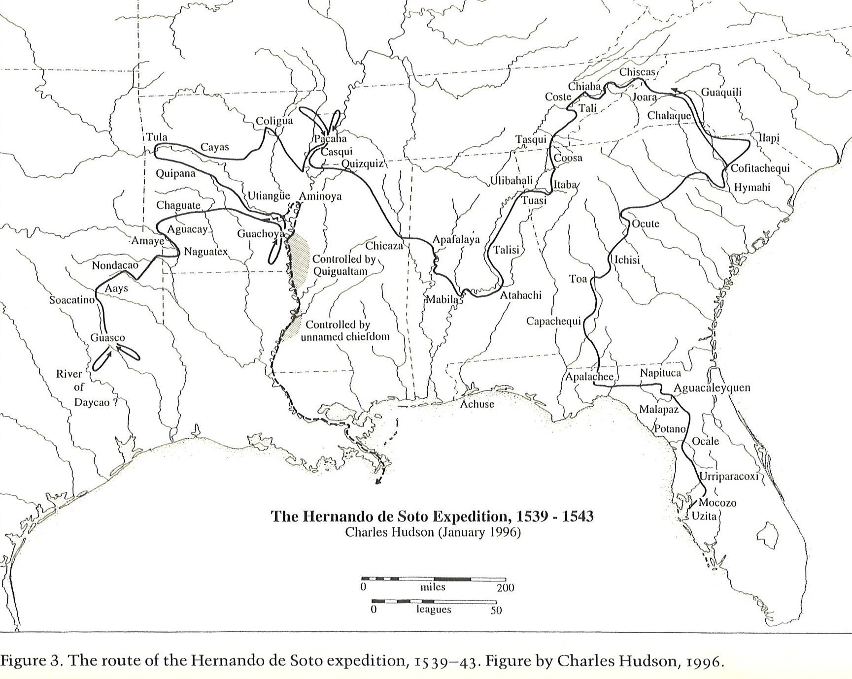 Map Of Hudson Florida.Marker Monday Hernando De Soto In Georgia Georgia Historical Society