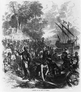 Landing of De Soto in Florida