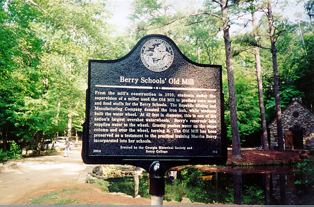 Berry School's Old Mill Marker