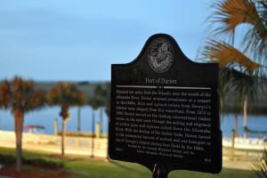 Port of Darien historical marker text, 2015. Courtesy of Matthew Decker.
