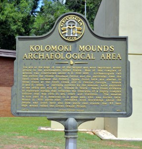 Kolomoki Mounds Archaeological Area Marker