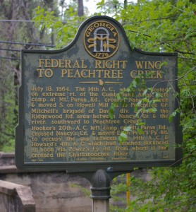 Federal Right Wing to Peachtree Creek Marker