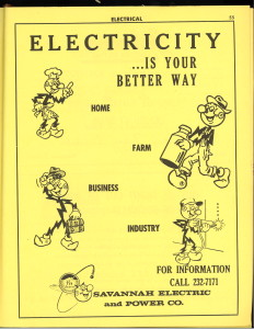 Ad for Savannah Electric