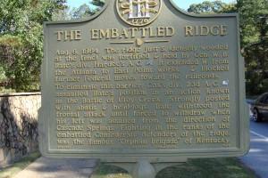 The Embattled Ridge Historical Marker