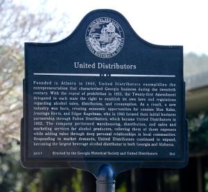 United Distributors Historical Marker Dedication