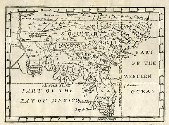 Map Of Georgia Colony.Oglethorpe As A Georgia Trustee Georgia Historical Society