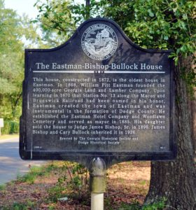 The Eastman-Bishop-Bullock House Marker