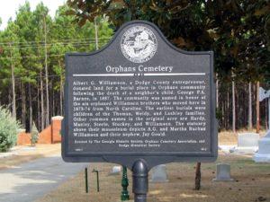 Orphans Cemetery Marker