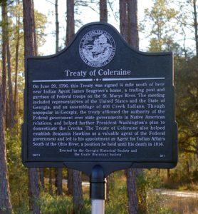 Treaty of Coleraine Marker
