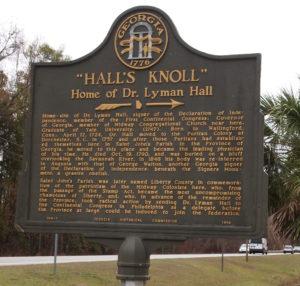 """""""Hall's Knoll:"""" Home of Dr. Lyman Hall"""