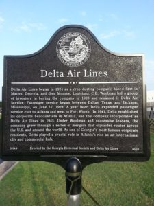 Delta Air Lines Historical Marker