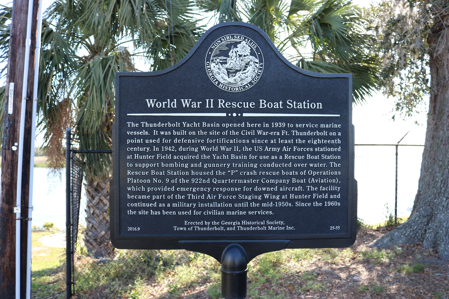 Marker Monday: WWII Rescue Boat Station – Georgia Historical Society