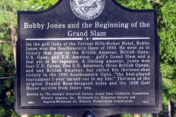 Bobby Jones and the Beginning of the Grand Slam Marker
