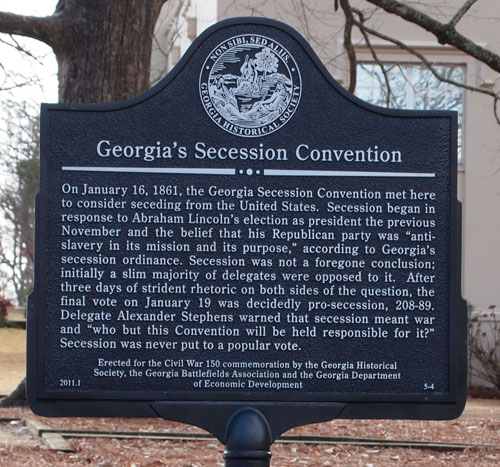 Image result for Georgia Secession Convention