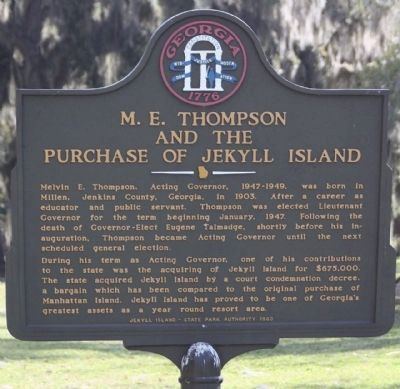 M.E. Thompson and the Purchase of Jekyll Island