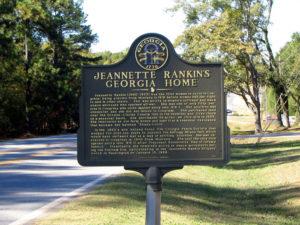 Jeannette Rankin marker
