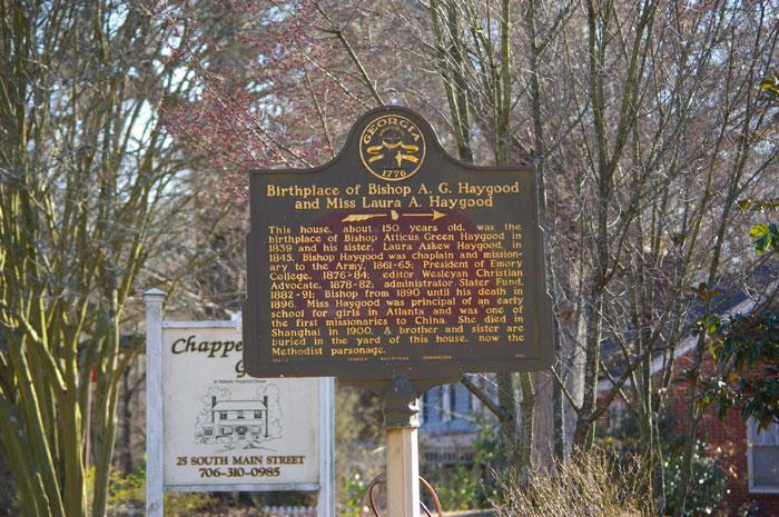 Birthplace of Bishop Haygood