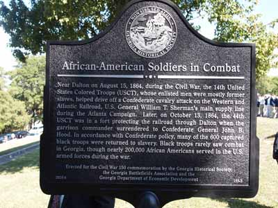 African-American Soldiers in Combat historical marker
